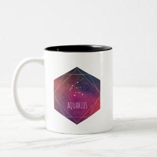 Aquarius Galaxy Two-Tone Coffee Mug