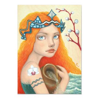 Aquarius Girl Card