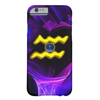 AQUARIUS GOLD ZODIAC SIGN Blue Purple Fractals Barely There iPhone 6 Case