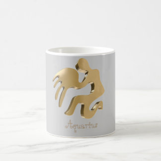 Aquarius golden sign coffee mug