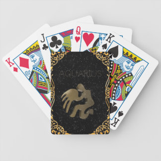 Aquarius golden sign poker deck