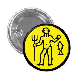 Aquarius Horoscope Sign Zodiac Symbol Button