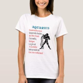 Aquarius Horoscope Zodiac Sign T-Shirt