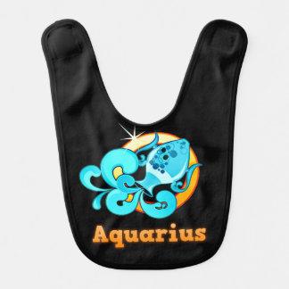 Aquarius illustration bib