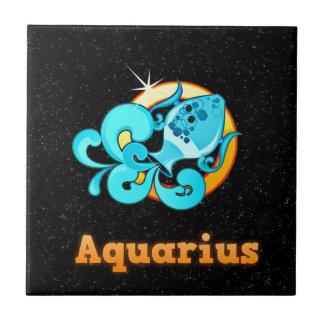Aquarius illustration ceramic tiles