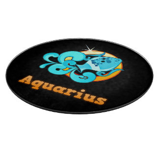 Aquarius illustration cutting board