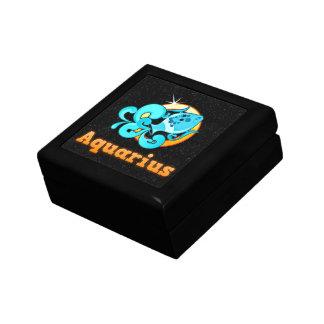 Aquarius illustration gift box