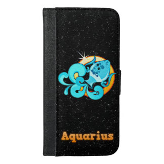 Aquarius illustration iPhone 6/6s plus wallet case