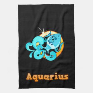 Aquarius illustration kitchen towel