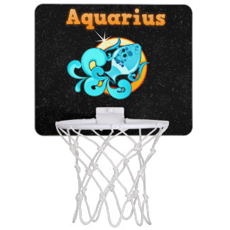 Aquarius illustration mini basketball hoop