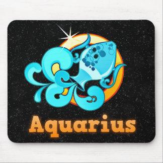 Aquarius illustration mouse pad