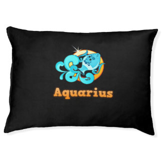 Aquarius illustration pet bed