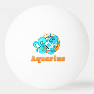 Aquarius illustration ping pong ball