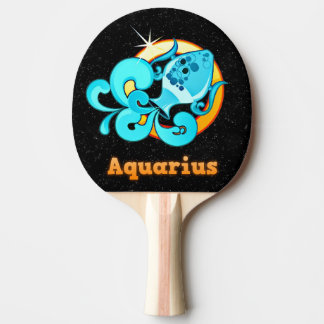 Aquarius illustration ping pong paddle