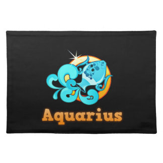 Aquarius illustration placemat