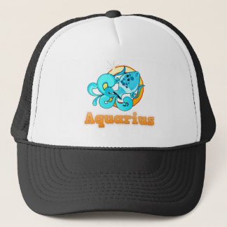 Aquarius illustration trucker hat