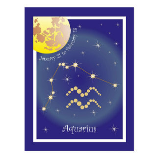 Aquarius January 21 tons of February 18 postcard