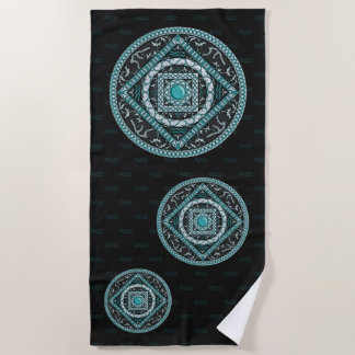 Aquarius Mandala Beach Towel