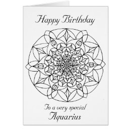 Color your own birthday card choice image birthday cake decoration color your own birthday card choice image birthday cake decoration happy birthday aquarius gifts on zazzle bookmarktalkfo Choice Image