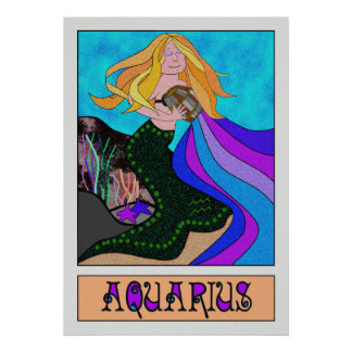 AQUARIUS MERMAID POSTER