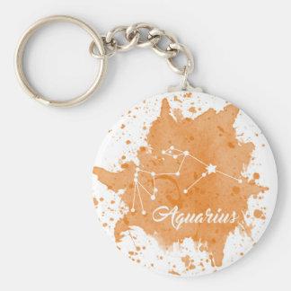 Aquarius Orange Keychain