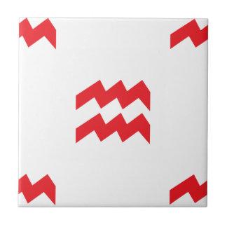 Aquarius Pattern Red Ceramic Tile