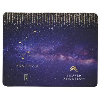 Aquarius Personalized Monogram Journal Notebook