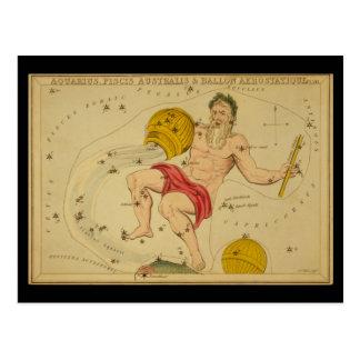 Aquarius, Piscis Australis & Ballon Aerostatique Postcard