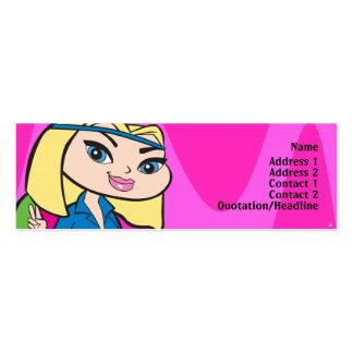Aquarius Profile Card Mini Business Card
