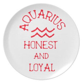 Aquarius (Red Text) Plate