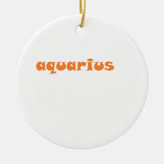 aquarius round ceramic ornament