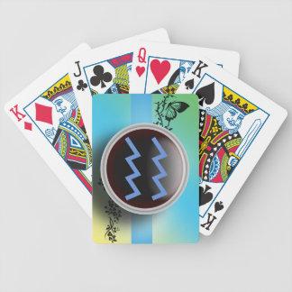 Aquarius Sign Playing Cards