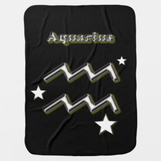 Aquarius symbol baby blanket
