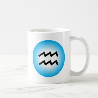 AQUARIUS SYMBOL COFFEE MUG