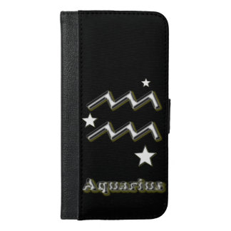Aquarius symbol iPhone 6/6s plus wallet case