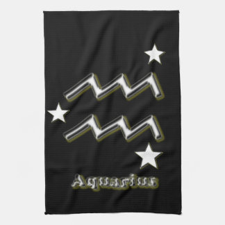 Aquarius symbol kitchen towel