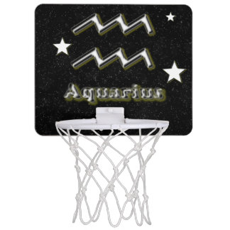 Aquarius symbol mini basketball hoop
