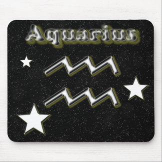 Aquarius symbol mouse pad