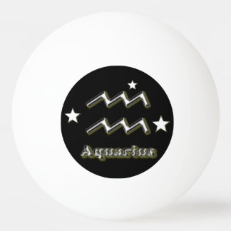 Aquarius symbol ping pong ball