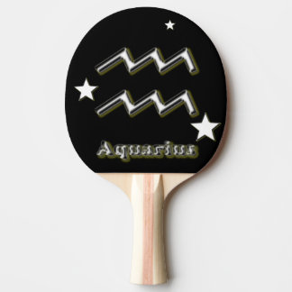 Aquarius symbol ping pong paddle