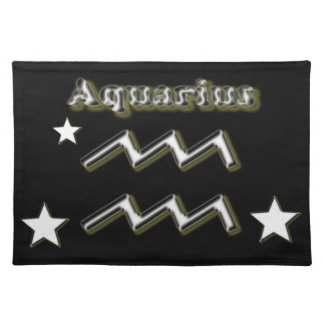 Aquarius symbol placemat
