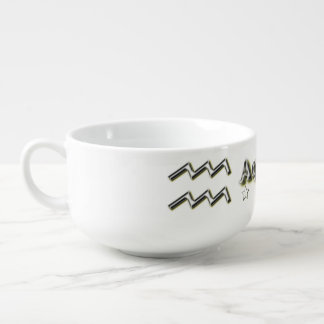 Aquarius symbol soup mug