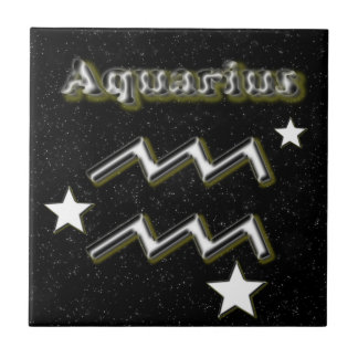 Aquarius symbol tile