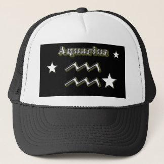 Aquarius symbol trucker hat