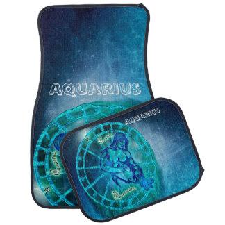 Aquarius the Water Bearer Horoscope Car Mat
