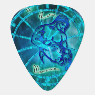 Aquarius the Water Bearer Horoscope Guitar Pick