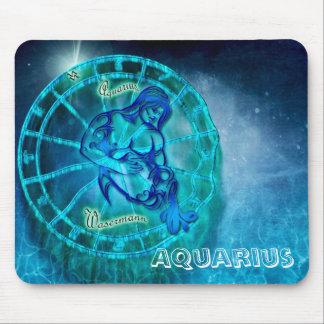 Aquarius the Water Bearer Horoscope Mouse Pad
