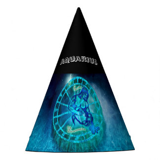Aquarius the Water Bearer Horoscope Party Hat