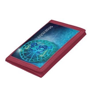 Aquarius the Water Bearer Horoscope Tri-fold Wallet