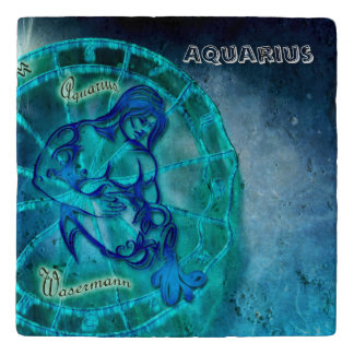 Aquarius the Water Bearer Horoscope Trivet